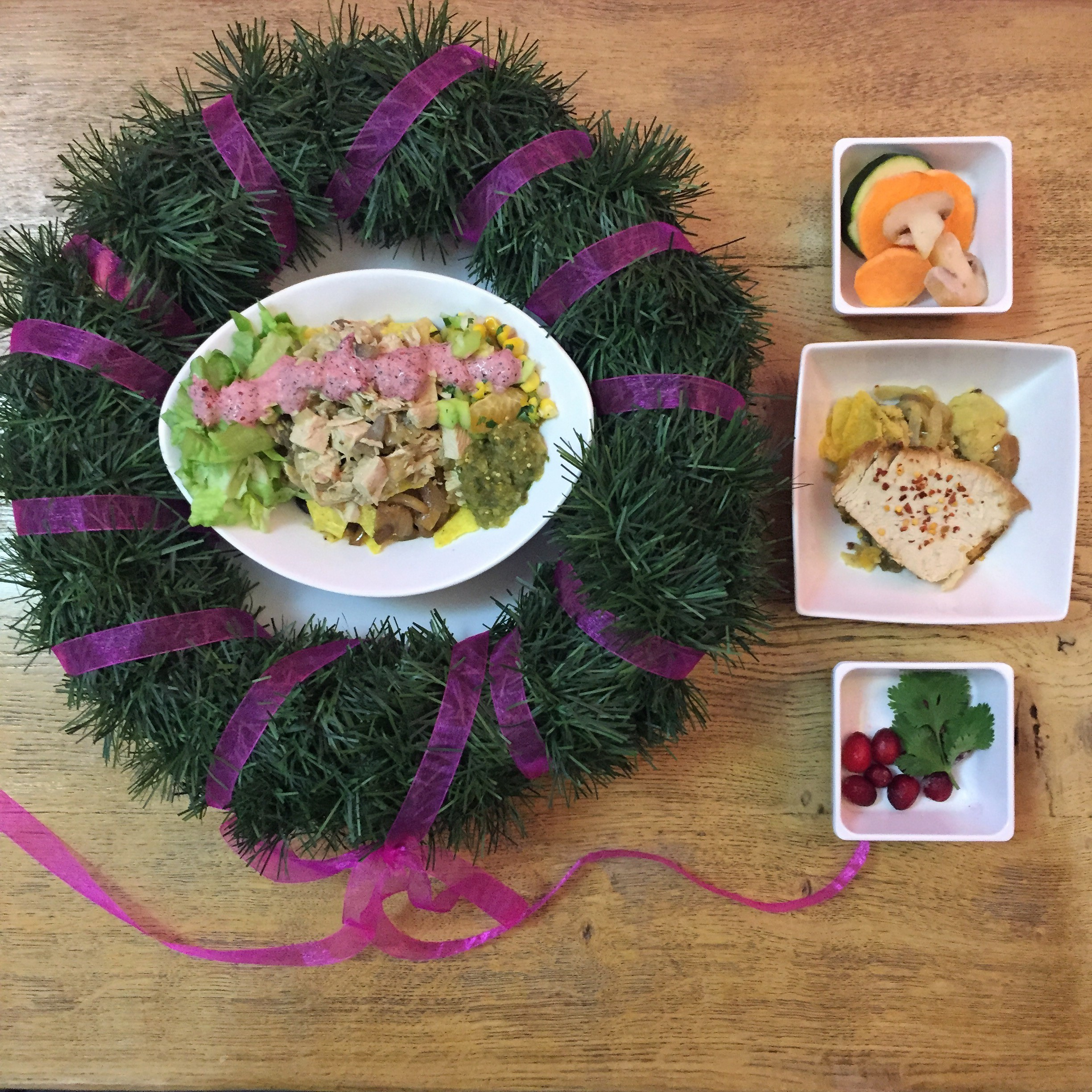 Holiday Spicy Turkey Dinner (bowl or wrap)