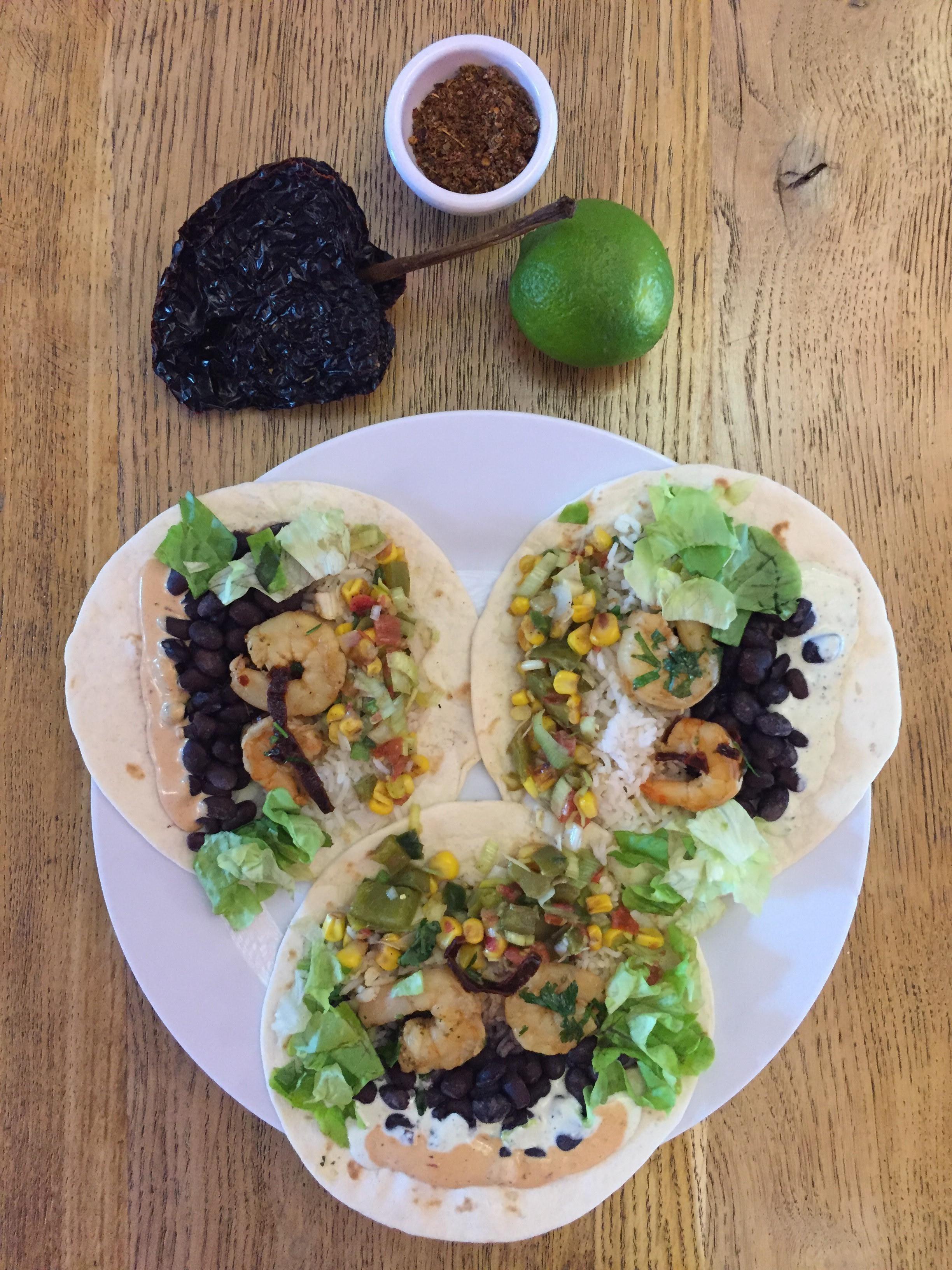 Ancho-Lime Shrimp Tacos