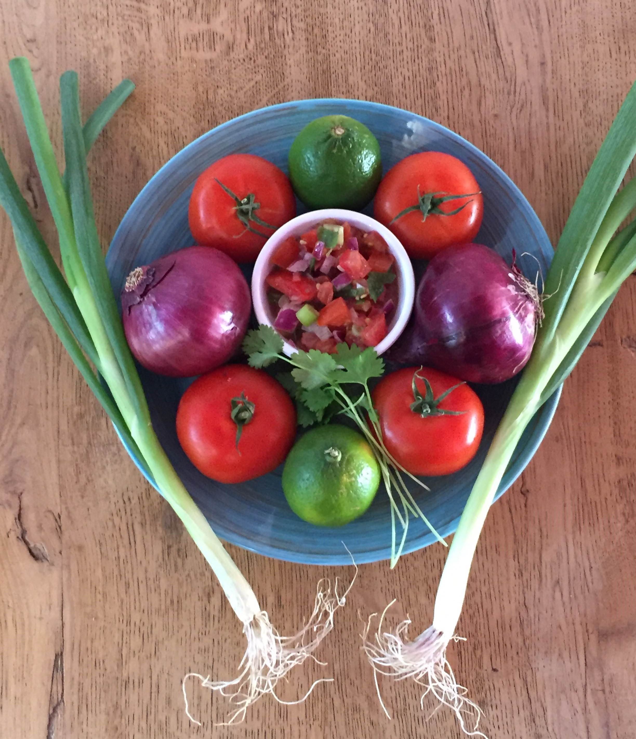 Seasonal Fresh Salsa = Pico de Gallo